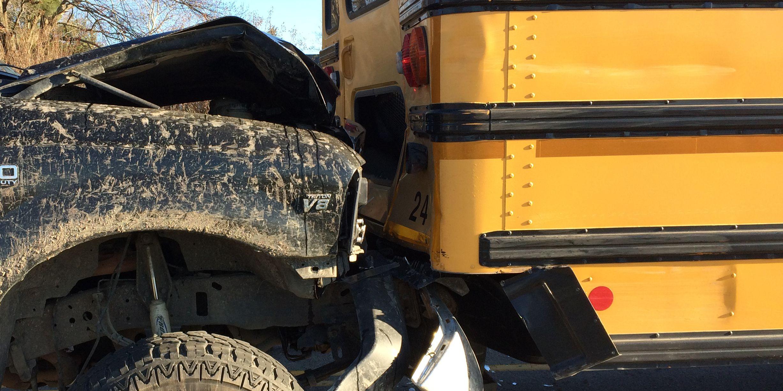 10 children sent to hospital after school bus crash