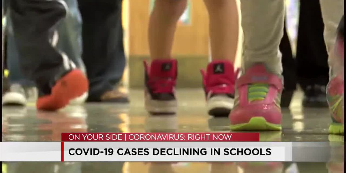COVID-19 cases declining in schools