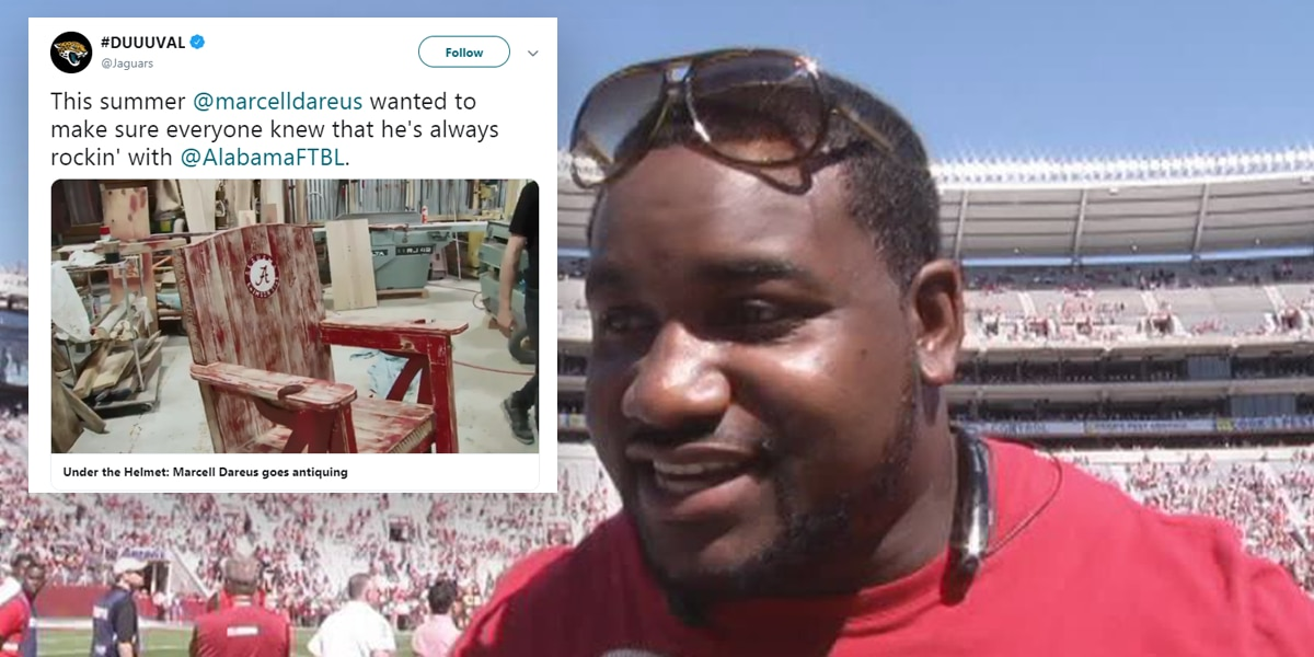 "Marcell Dareus wants you to know he's still ""rocking"" with the Crimson Tide"