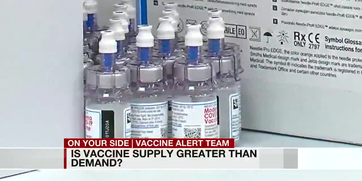 Is vaccine supply greater than demand?
