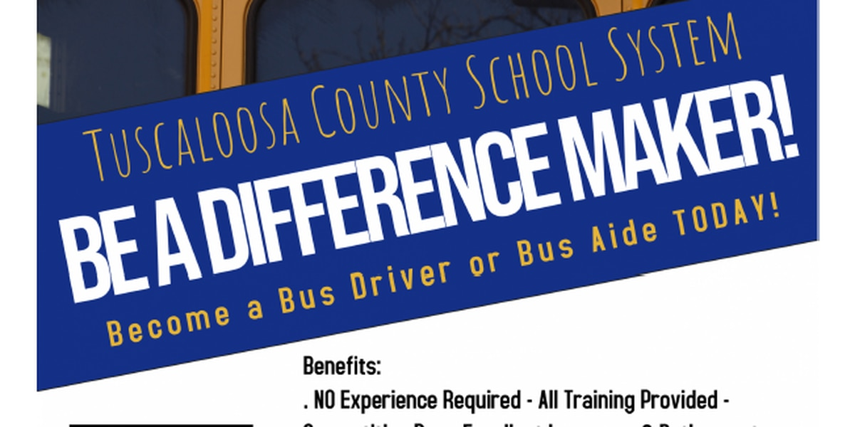 Tuscaloosa County Schools hosting bus driver sessions Tuesday
