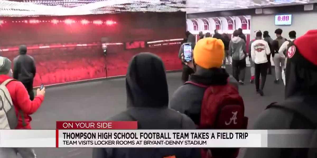 Thompson High School football team visits Bryant-Denny