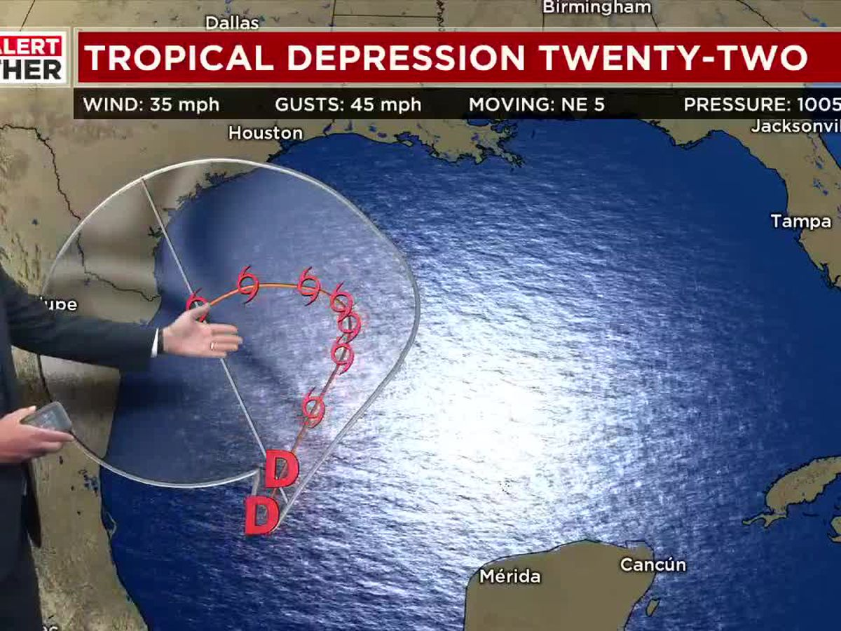 FIRST ALERT: Tropical Depression 22 has formed in the Gulf