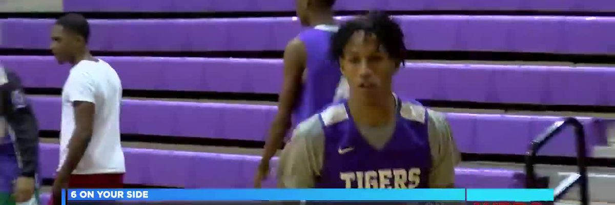Bessemer City basketball player playing with heart