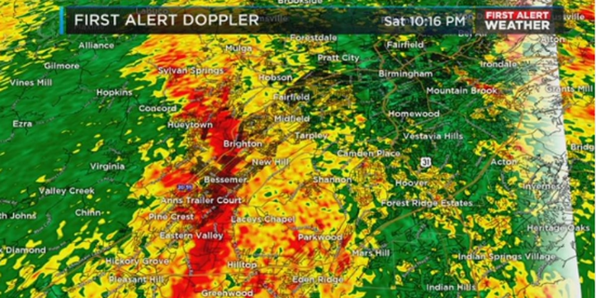 FIRST ALERT: Flash Flood Watch - Rain tapers off early Sunday, cold follows