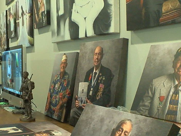 Local photographer takes pride in 'Portraits of Honor'