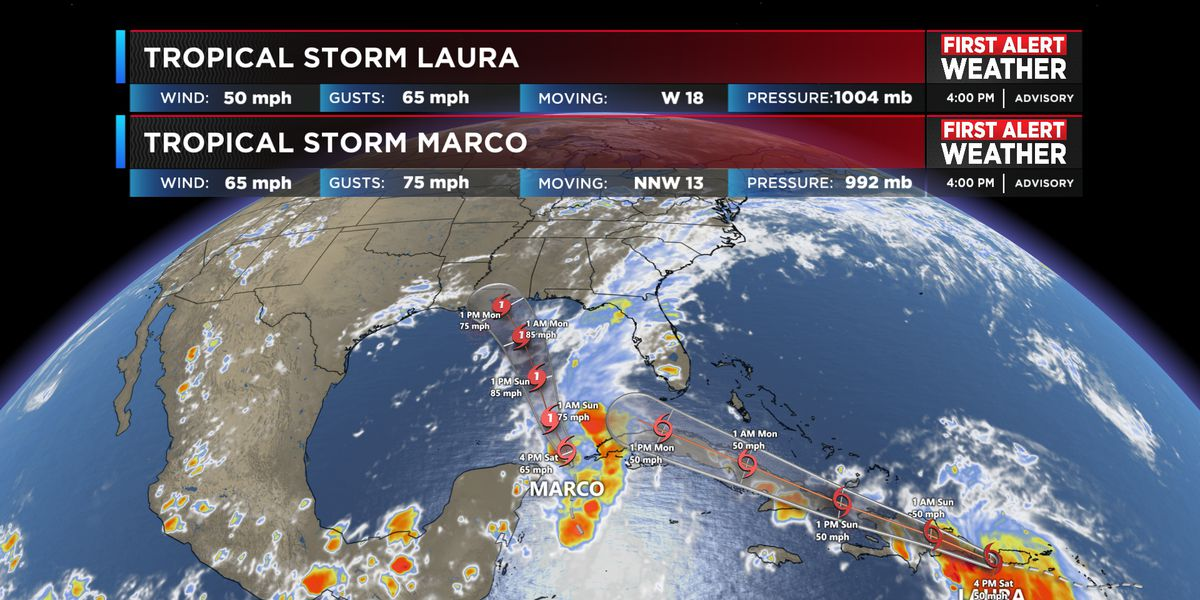 FIRST ALERT: Tropical storm watches issued as Marco enters the southern Gulf of Mexico