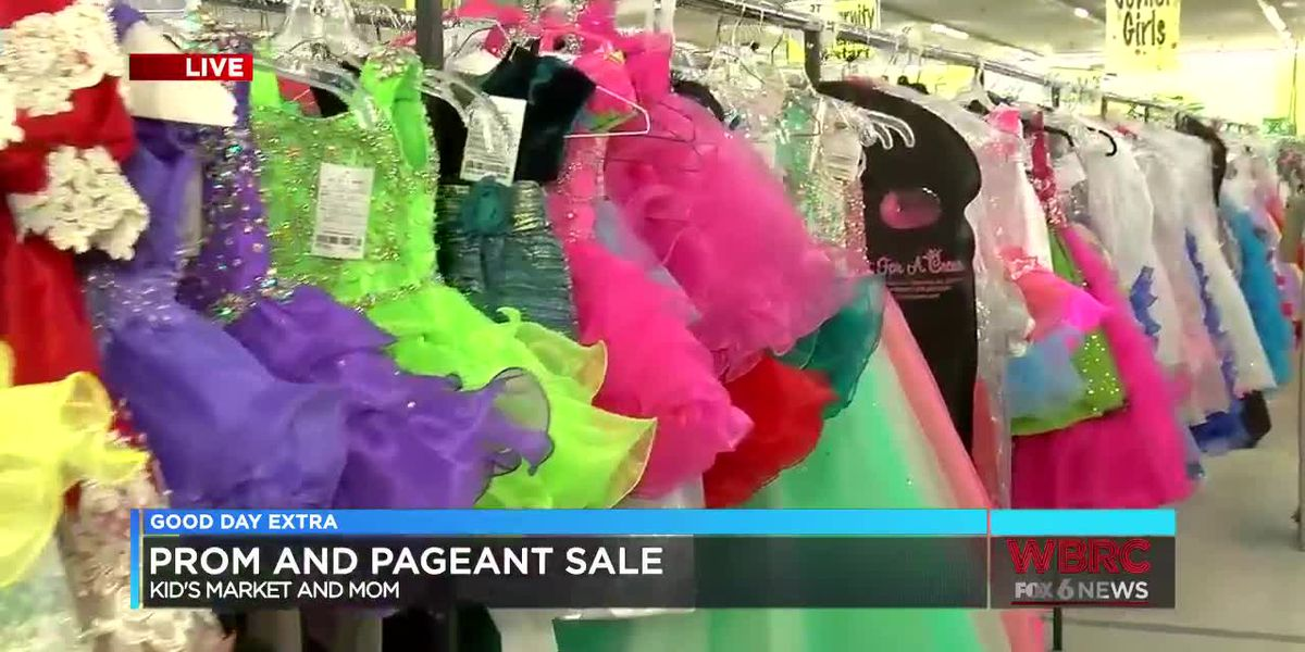 Prom and pageant sale at Kid's Market and Mom