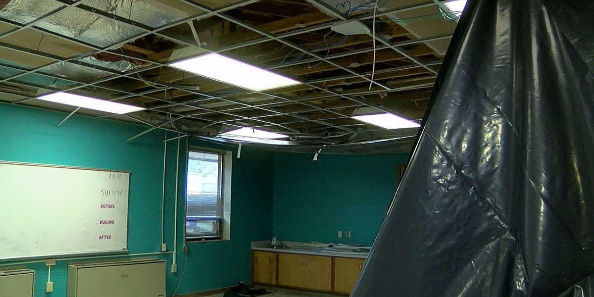Crews work to repair Northport school flooded over Christmas break