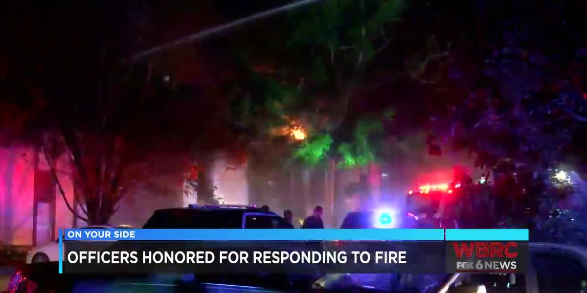 Officers honored for responding to fire