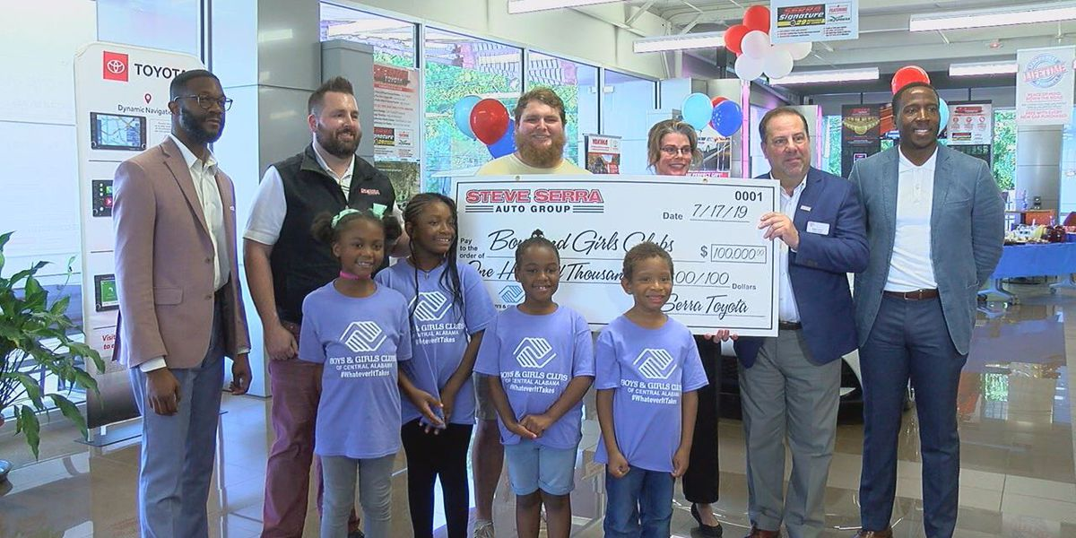 Steve Serra Auto donates $100K to Boys and Girls Clubs of Central AL
