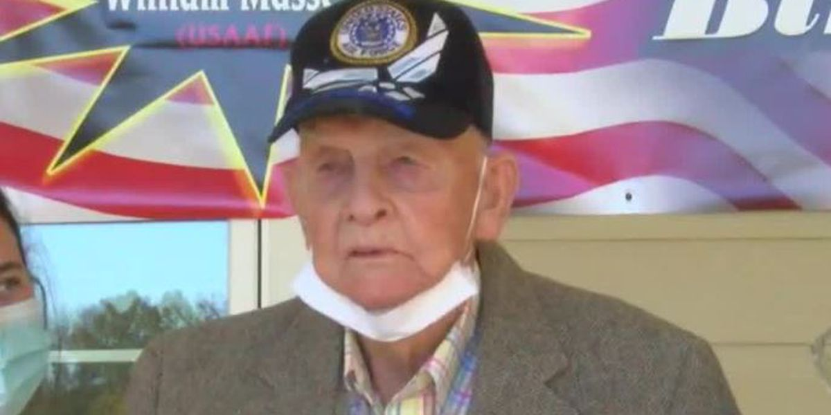 'Be thankful': World War II veteran has message as he celebrates his 100th birthday
