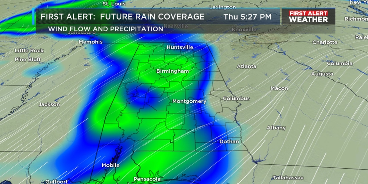 FIRST ALERT: Rain returns on Thursday; possibility of thunderstorms early Friday