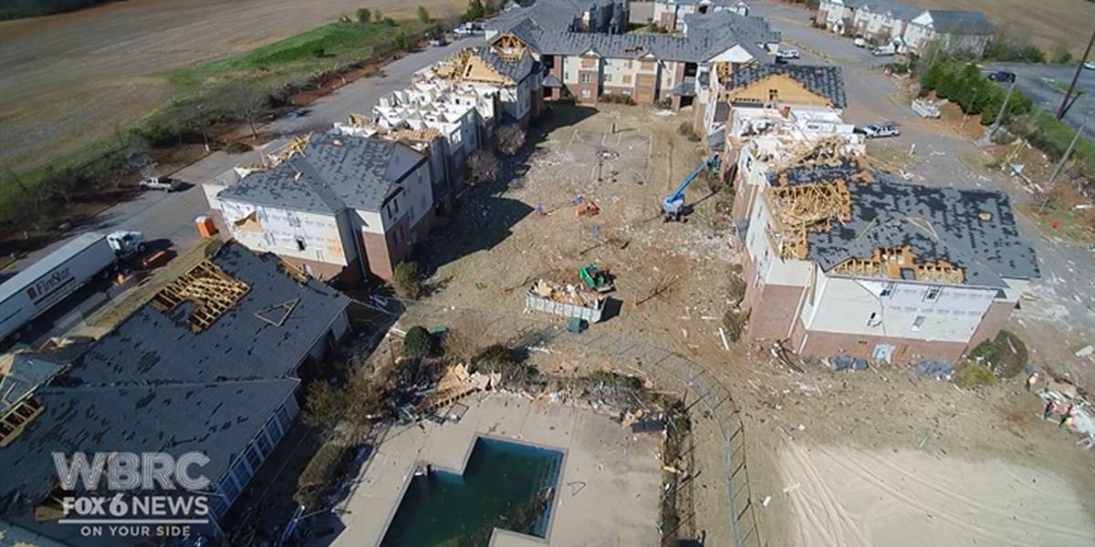 Jacksonville State releases surveillance footage taken during tornado