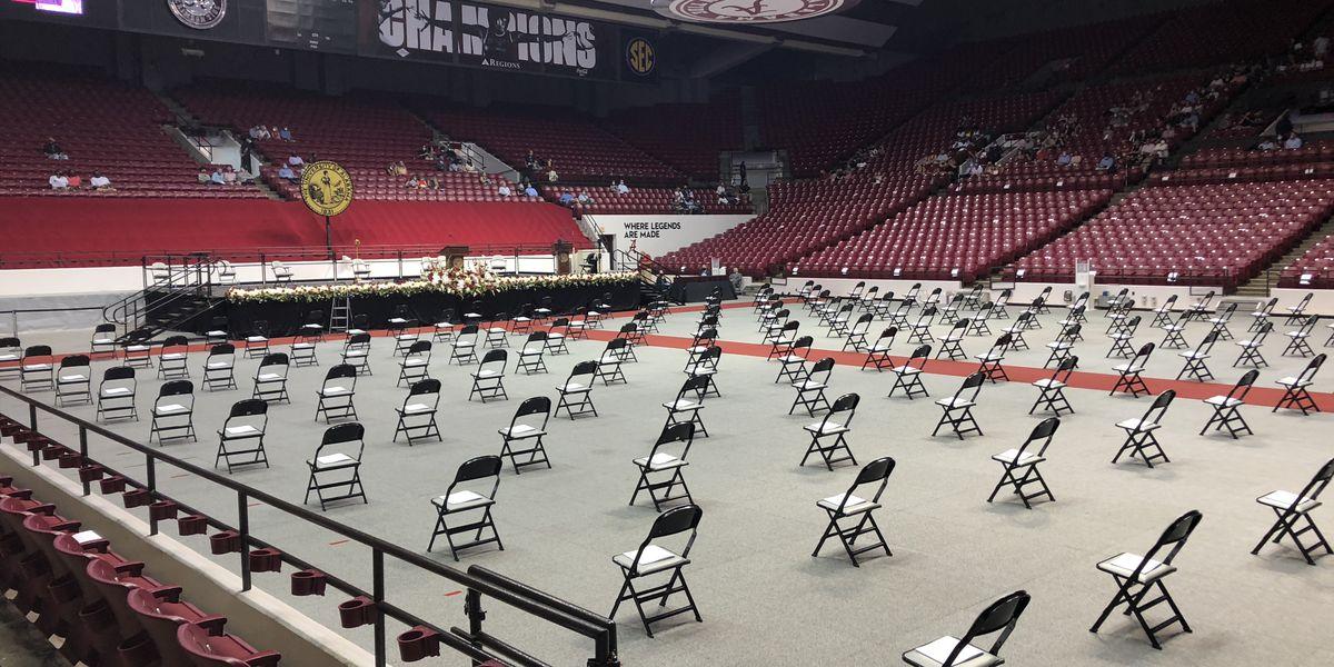 University of Alabama hosts series or graduation ceremonies over the weekend