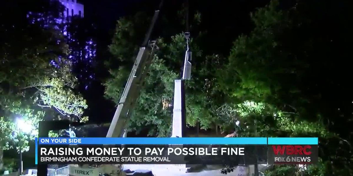 Raising money to pay for possible fine of B'ham statue removal