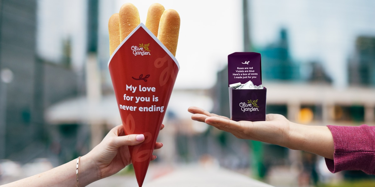 For the love of a breadstick bouquet