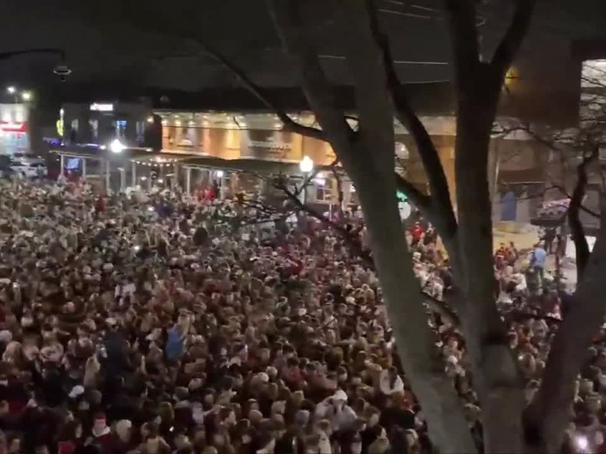 14 arrested as National Championship celebration draws massive crowd to The Strip