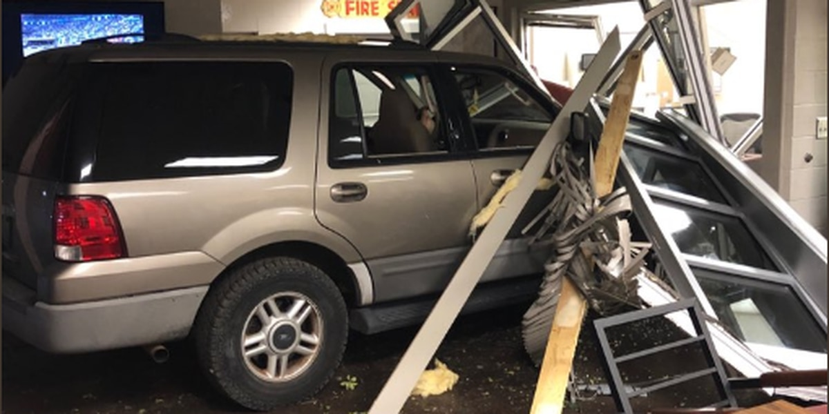 Vehicle crashes through B'ham fire station