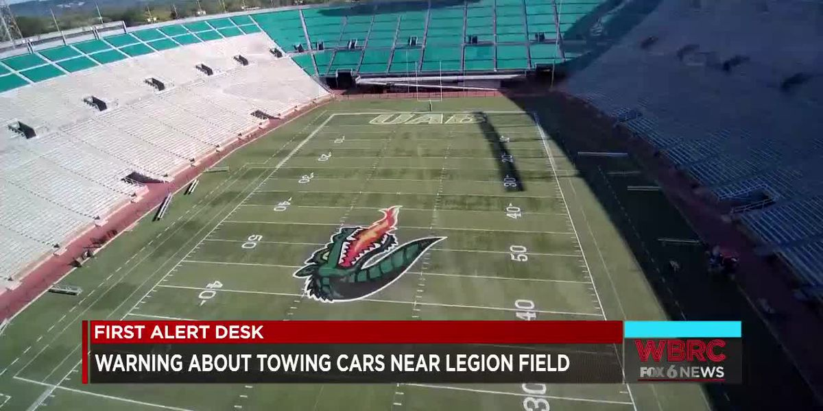 Warning about towing cars near Legion Field