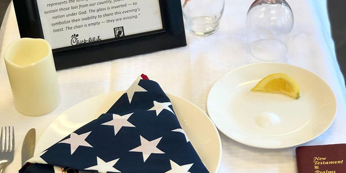 Surfside Beach Chick-fil-A honors soldiers with 'missing man table'
