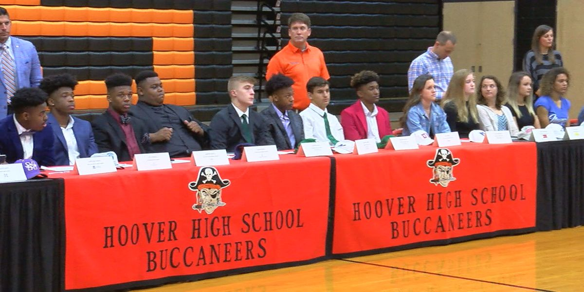 34 athletes sign scholarships at Hoover's National Signing Day Ceremony
