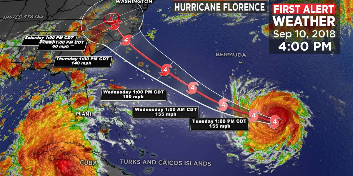 Florence remains a powerful category four hurricane