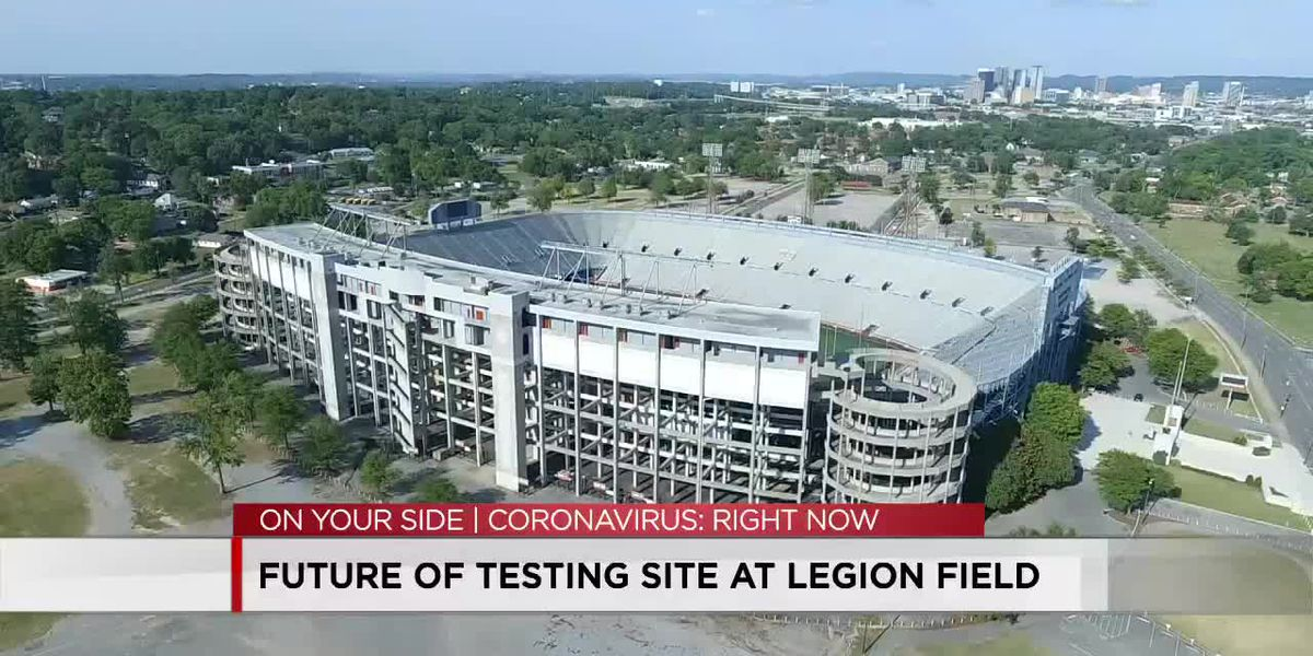 Future of COVID testing site at Legion Field
