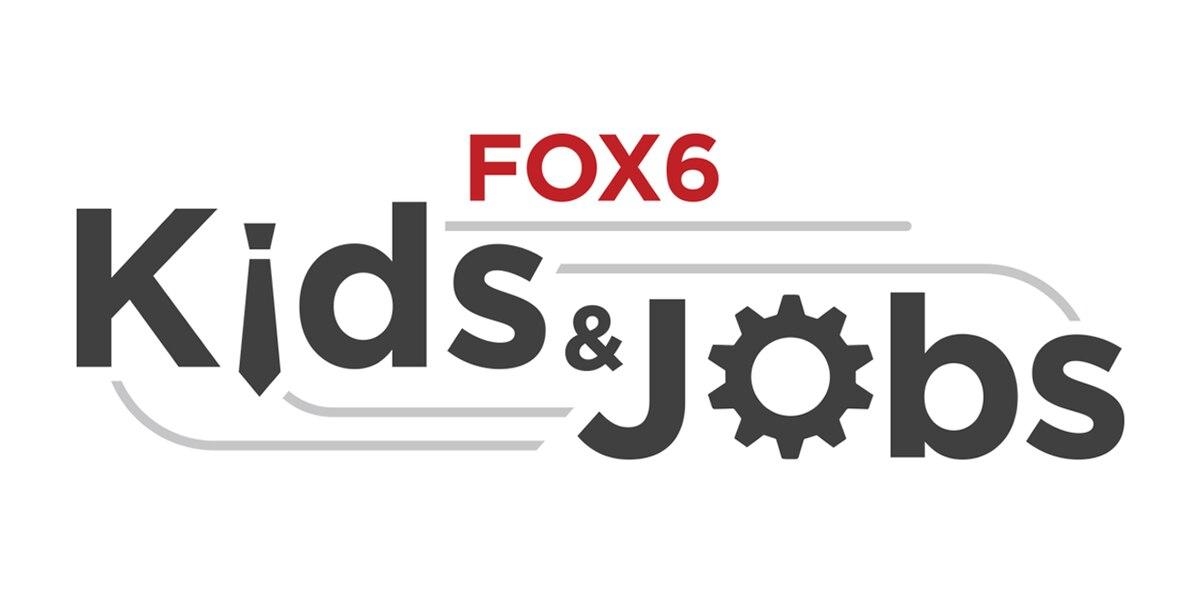 "Teenagers earn their paychecks through the ""Kids and Jobs"" program"