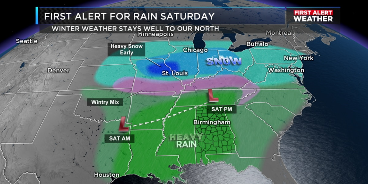 FIRST ALERT: Rain chances are high for Saturday