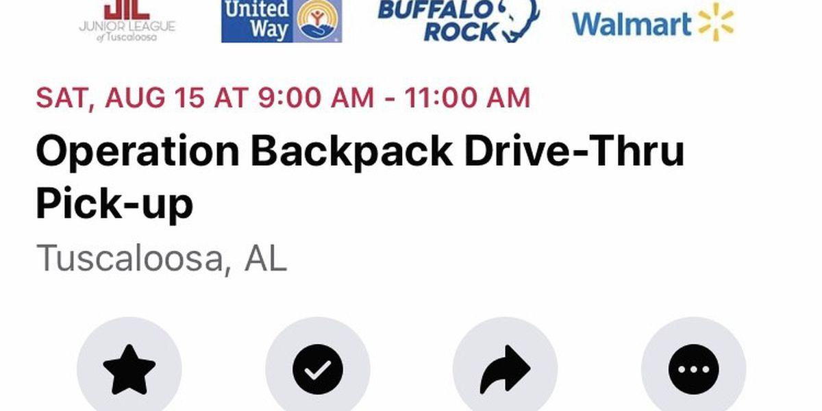Free school supply drive happening Saturday in Tuscaloosa