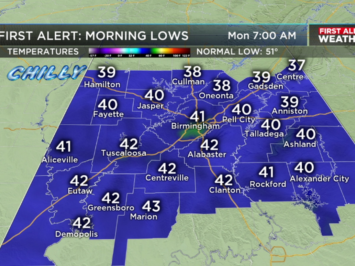 Matt says a few spots could see a frost Monday morning