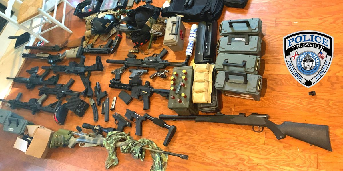 Trussville police make arrest, find weapons and components to make explosives