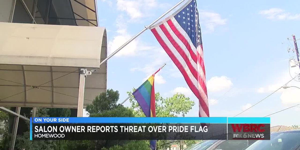 Salon owner reports threat over pride flag