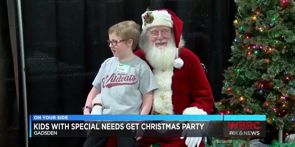 Kids with special needs have Christmas party in Gadsden