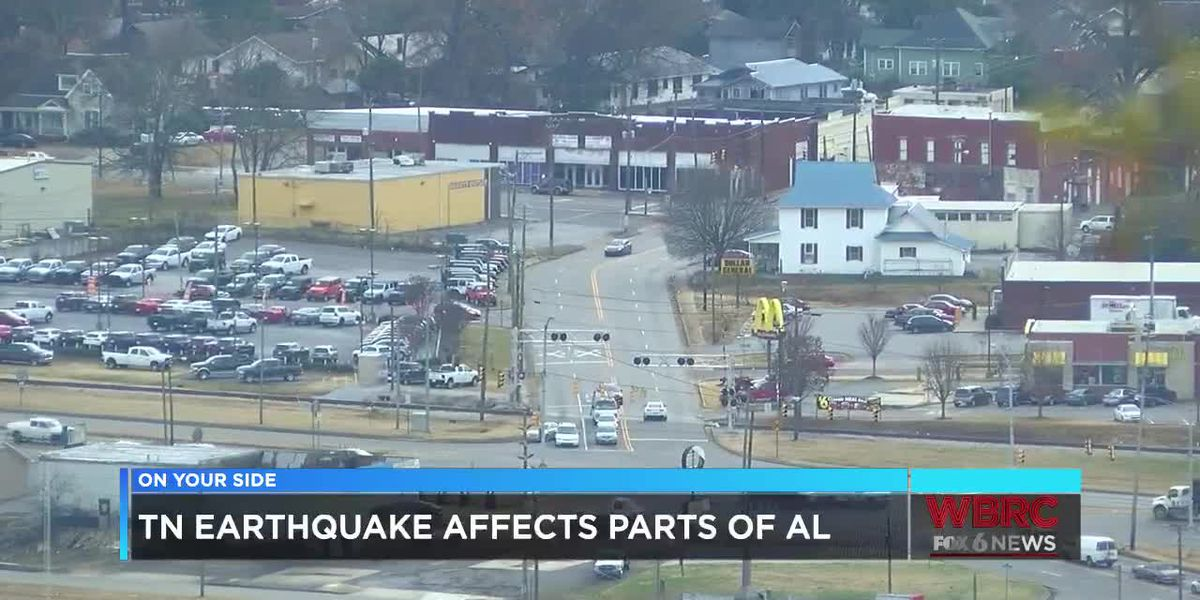 TN earthquake affects parts of AL