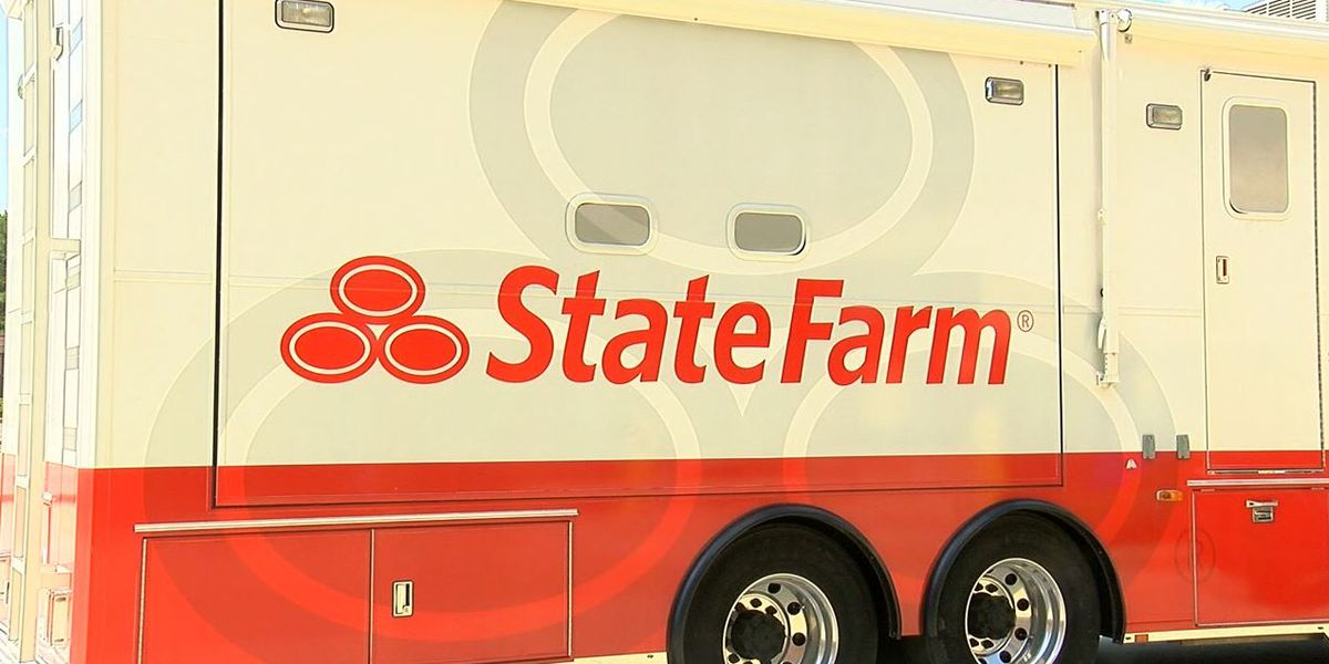 State Farm Insurance staging in Birmingham, preparing for Florence