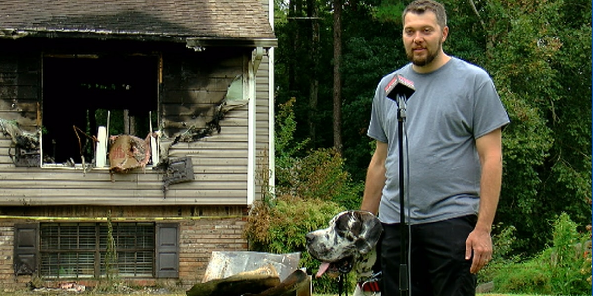 Dog saves Shelby Co. family from house fire