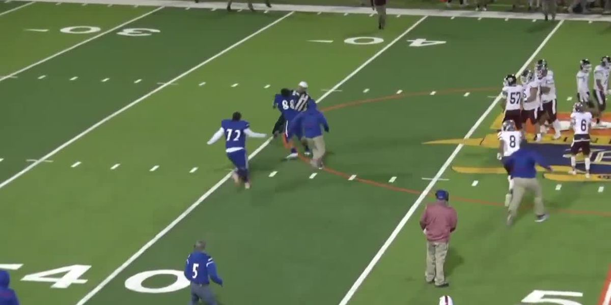 Texas high school football player hits referee