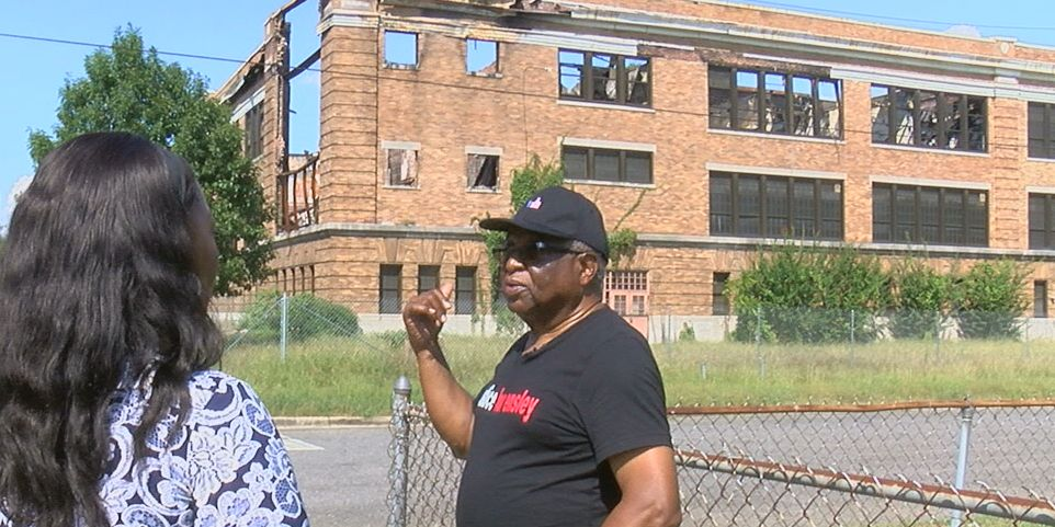 Neighbors complain about condition of old Ensley High School