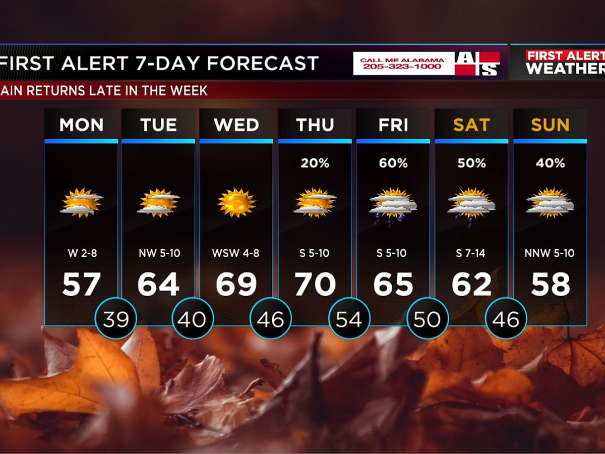 Sunshine and mild weather in store for your workweek