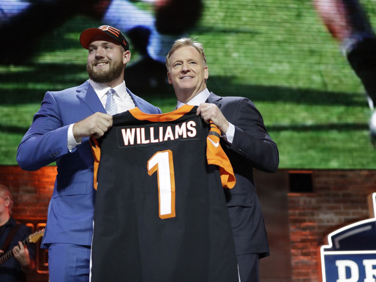 No QB this time: Bengals take tackle Williams in 1st round