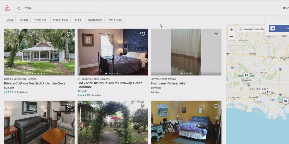 Airbnb opening up homes for tropical storm Barry evacuees