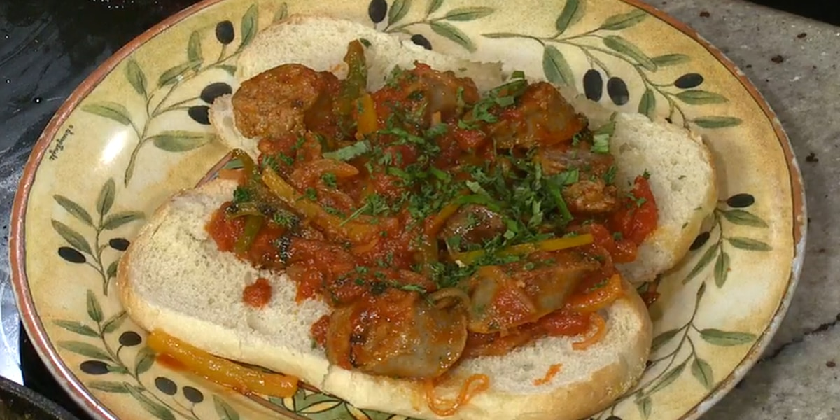 Chef Ron's Famous Italian Sausage, Peppers and Onion Hero