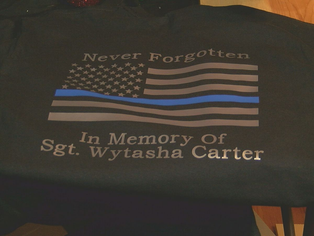 Trussville family creates 'Never Forgotten' shirt in memory of BPD Sgt. Wytasha Carter