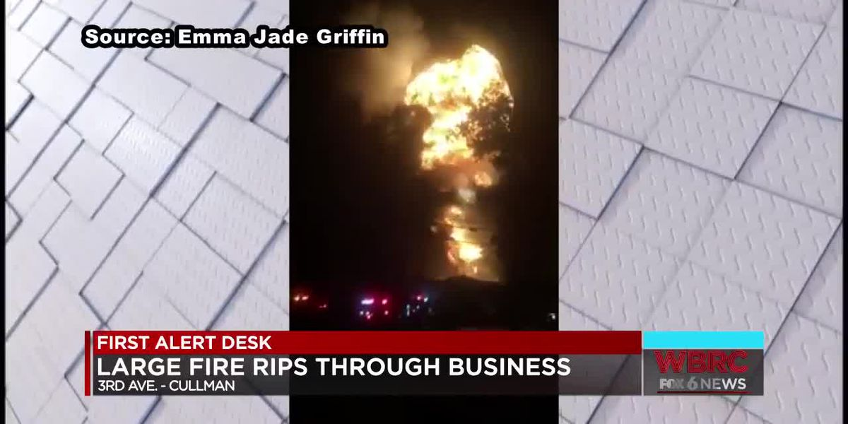 Large fire rips through Cullman business