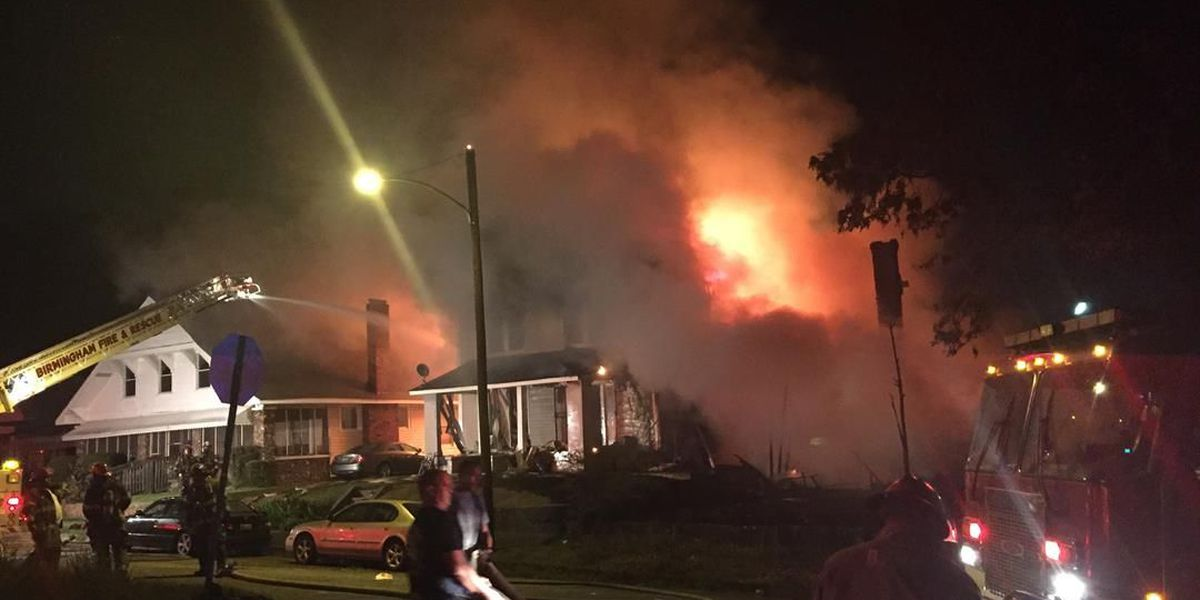 Two-alarm house fire heavily damages west Birmingham homes