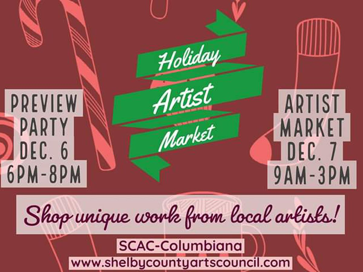 The 2019 Holiday Artist Market in Shelby County
