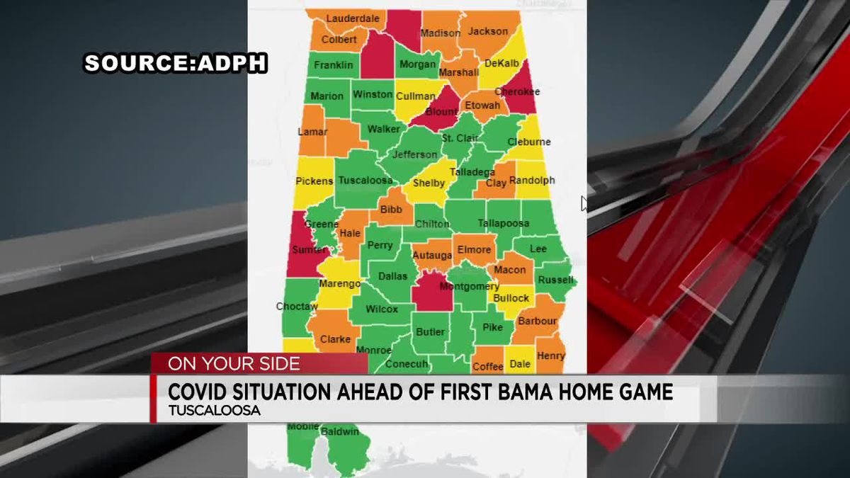 COVID situation ahead of first Bama home game