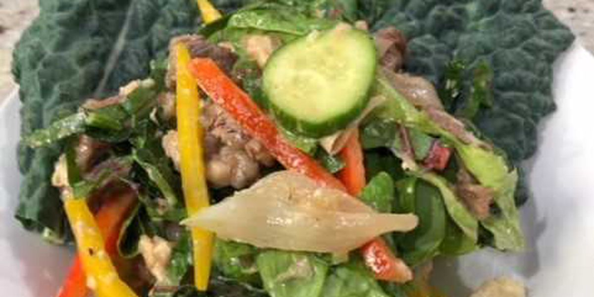 James K. Jones: Black and Blue Keto Salad